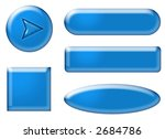 3d blue web buttons on white... | Shutterstock . vector #2684786