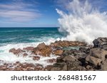 Waves Crashing At Queen\'s Bath...