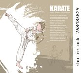 karate background design. hand... | Shutterstock .eps vector #268486829