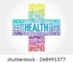 health word cloud  health cross ... | Shutterstock .eps vector #268491377