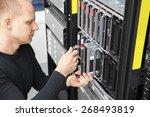 it consultant install blade...   Shutterstock . vector #268493819