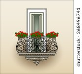 Balcony With Wrought Iron...