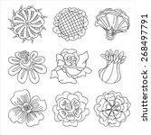 flower collection | Shutterstock .eps vector #268497791