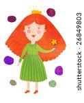 isolated cartoon princess... | Shutterstock . vector #26849803