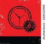 clock design on red background... | Shutterstock .eps vector #268510985