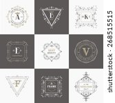 vector set  vintage frames and... | Shutterstock .eps vector #268515515