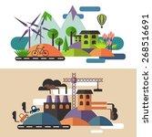 ecology  landscape  the factory | Shutterstock .eps vector #268516691