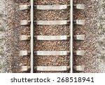 Top View Of Old Metal Railway...