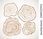 vector tree rings  saw cut tree ...   Shutterstock .eps vector #268522931