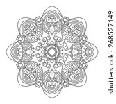 beautiful deco mandala ... | Shutterstock . vector #268527149