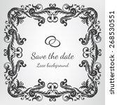 vector wedding invitation card...   Shutterstock .eps vector #268530551