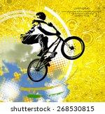bmx rider. vector design. | Shutterstock .eps vector #268530815