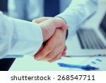 business people shaking hands ... | Shutterstock . vector #268547711