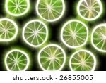 Abstract Fractal Rendered Lime...
