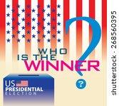 who is the winner in united... | Shutterstock .eps vector #268560395