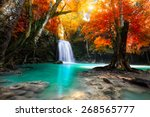 deep forest waterfall | Shutterstock . vector #268565777