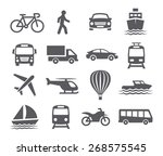 transport icons | Shutterstock . vector #268575545