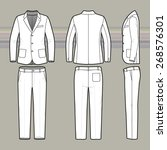 men's suit. clothing set. blank ... | Shutterstock .eps vector #268576301
