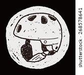 skate helmet doodle | Shutterstock . vector #268578641