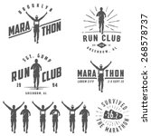set of vintage run club labels  ... | Shutterstock .eps vector #268578737
