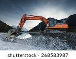 Big Shovel Excavator Standing...