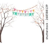 Watercolor Tree Party Card....