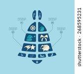 christmas flat infographic   Shutterstock .eps vector #268595231