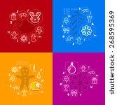 christmas sticker infographic | Shutterstock .eps vector #268595369