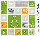 christmas sticker infographic | Shutterstock .eps vector #268595444