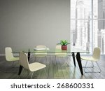 dining room wish tabel and... | Shutterstock . vector #268600331