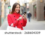 Shopper Woman Buying Online On...