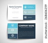 modern simple business card... | Shutterstock .eps vector #268606259