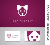 puppy logo template icon design ... | Shutterstock .eps vector #268607729