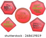 high quality set of sale... | Shutterstock . vector #268619819