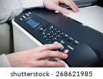man using scanner multifunction ... | Shutterstock . vector #268621985