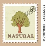 tree stamp  natural | Shutterstock .eps vector #268632731