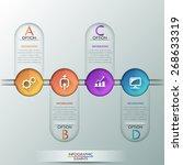 modern infographics process... | Shutterstock .eps vector #268633319
