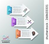 modern infographics options...   Shutterstock .eps vector #268633331