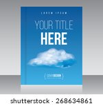 cover design vector template... | Shutterstock .eps vector #268634861