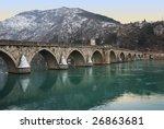 the bridge on the drina in... | Shutterstock . vector #26863681