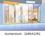 shopping window modern luxury...   Shutterstock .eps vector #268641281