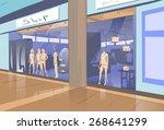 shopping window modern luxury... | Shutterstock .eps vector #268641299