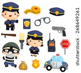police and robber vector set | Shutterstock .eps vector #268649261