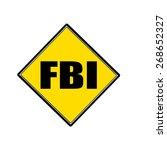 Fbi Black Stamp Text On Yellow