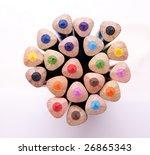 bunch fo colour pencil  color... | Shutterstock . vector #26865343
