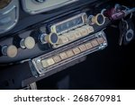 old car radio in a classisc car