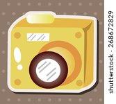 camera theme elements | Shutterstock .eps vector #268672829