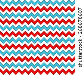 White  Red And Blue Chevron...