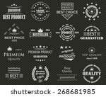premium quality labels set.... | Shutterstock .eps vector #268681985