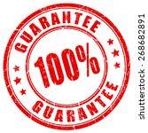 100 guarantee stamp   Shutterstock .eps vector #268682891